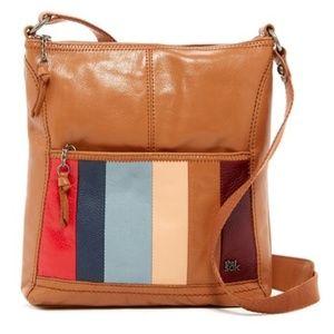 The Sak Iris Striped Leather Crossbody Bag